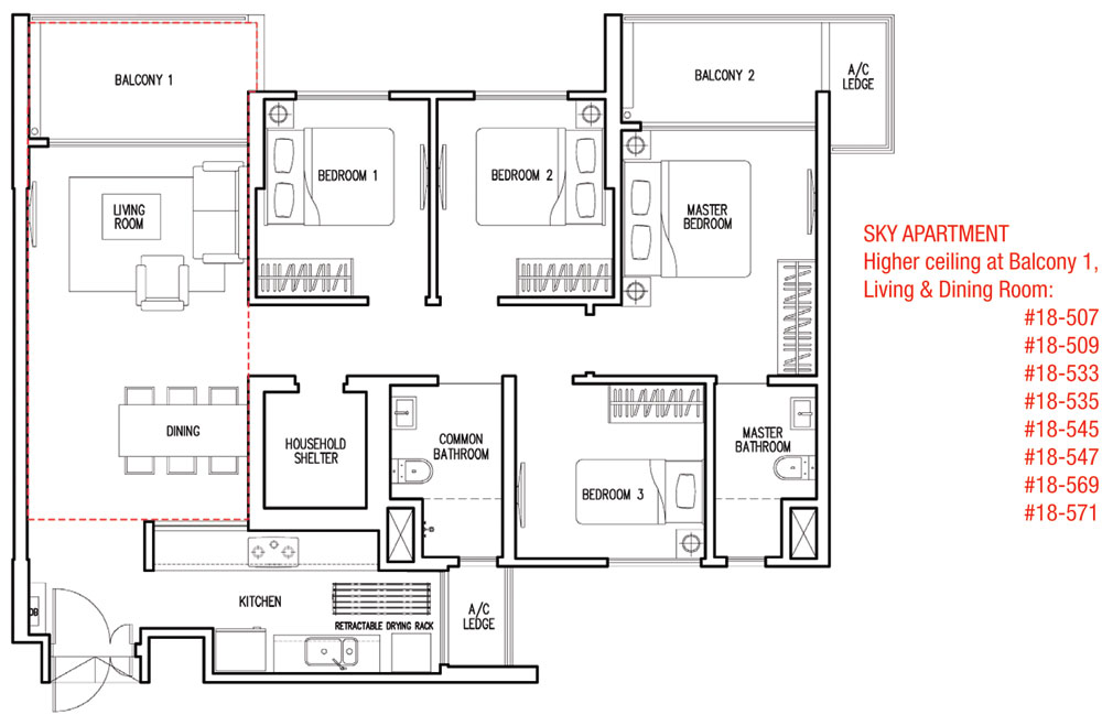 Parkland residences dbss singapore singapore dbss for 8 sqm room design